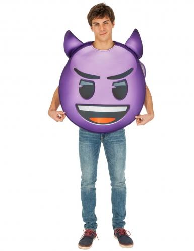 Teuflisches Emoji™-Unisex Kostüm für Erwachsene lila-schwarz