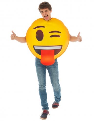 Emoji-Kostüm für Erwachsene humorvoll gelb