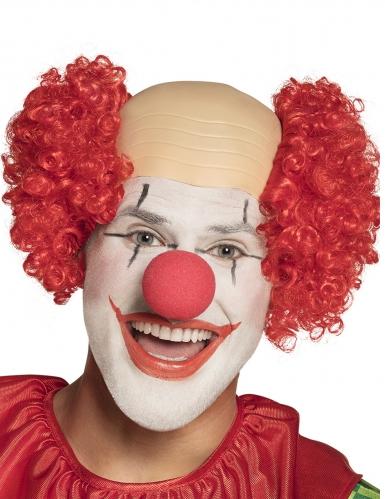 Clown-Perücke mit Glatze Kostümzubehör beige-rot