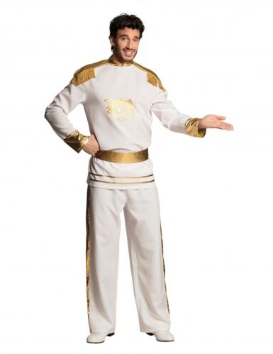 Prachtvolles Prinzen-Kostüm für Herren weiss-gold