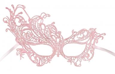 Venezianische Augenmaske für Damen rosa-1