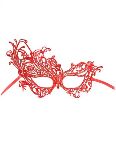 Sexy Spitzen-Augenmaske rot-2