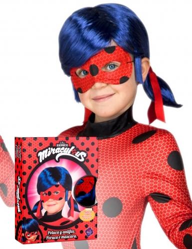 Ladybug™-Perücke mit Maske für Kinder Lizenz blau