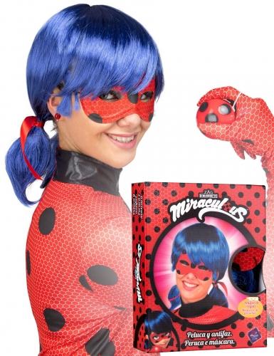 Ladybug™ Kostümset Perücke und Maske für Erwachsene