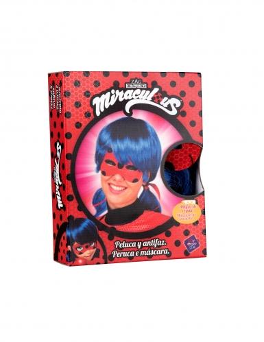 Ladybug™ Kostümset Perücke und Maske für Erwachsene-1