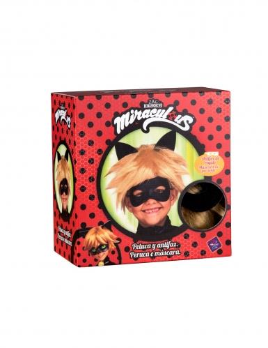 Cat Noir™-Perücke und Maske für Kinder Miraculous™ blond-1