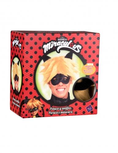 Cat Noir™-Perücke und Maske für Herren Miraculous™ blond-1