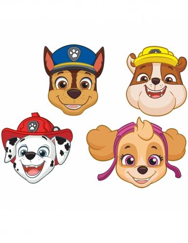 Paw Patrol™-Pappmasken Kindergeburtstag 8-teilig bunt