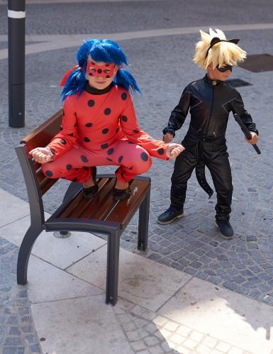 Ladybug™-Kinderkostüm für Mädchen Miraculous™ Lizenz-Verkleidung rot-schwarz-2