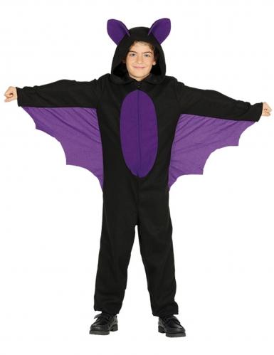 Kleine Fledermaus-Kostüm für Jungen Halloween schwarz-lila