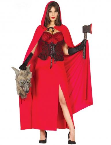 Mörderisches Rotkäppchen-Damenkostüm rot-schwarz