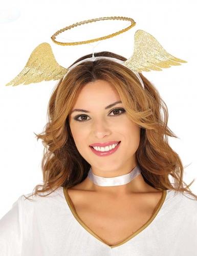 Himmlischer Heiligenschein Kostümzubehör Engel gold
