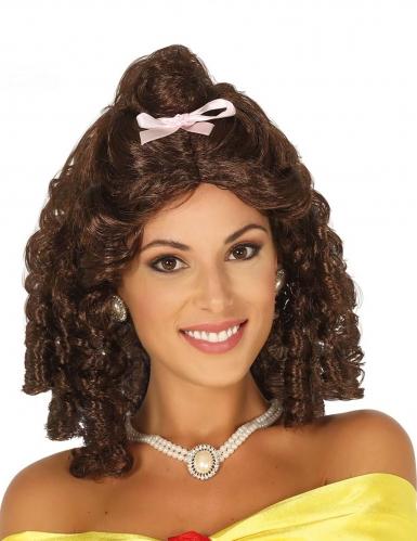 Prinzessinnen-Perücke mit Schleife für Damen