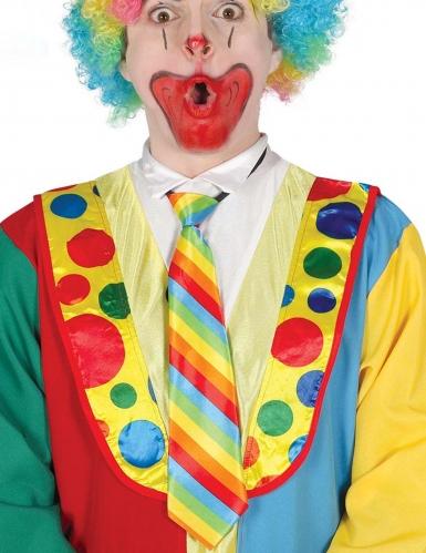 Clown-Krawatte Kostüm-Accessoire für Fasching bunt