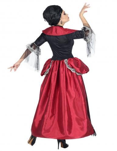 Vampir-Gräfin Barock-Kostüm für Damen Halloween schwarz-rot-2