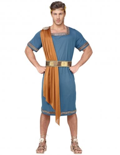 Römischer-Krieger Herrenkostüm für Karneval blau-orange-goldfarben-1