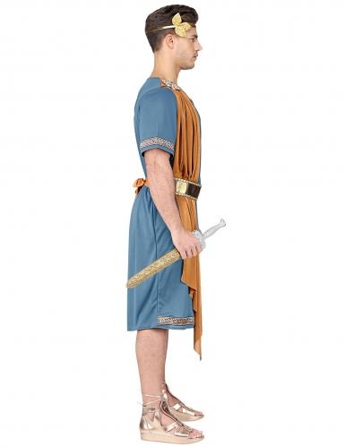 Römischer-Krieger Herrenkostüm für Karneval blau-orange-goldfarben-2