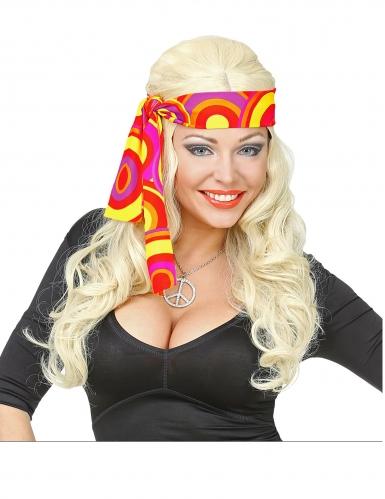 70´s-Haarband Disco-Zubehör für Damen Accessoire orange-bunt