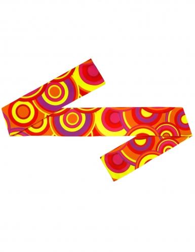 70´s-Haarband Disco-Zubehör für Damen Accessoire orange-bunt-1