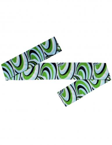 70er-Jahre-Haarband für Damen Disco-Kopfschmuck blau-grün-schwarz-1