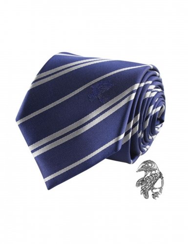 Harry Potter™ Ravenclaw Krawatte mit Anstecknadel blau