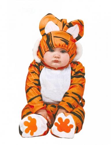 Kleines Tiger-Baby Kleinkind-Kostüm Raubkatze braun-schwarz-weiss