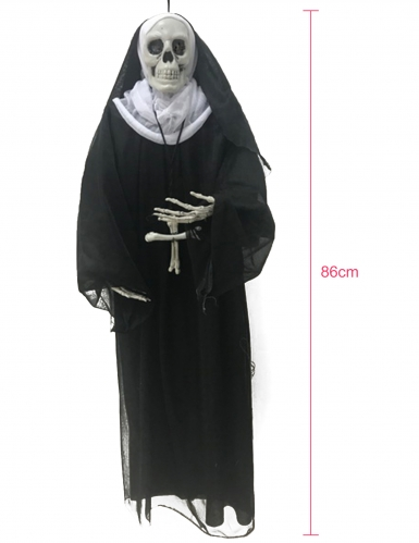 Nonne zum Aufhängen Halloween-Deko 86 cm-1