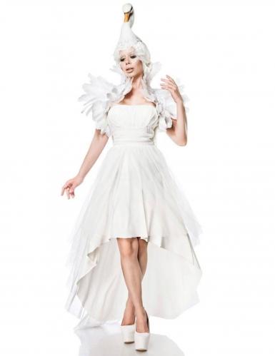 Mystisches Schwanen-Kostüm für Damen Fasching weiss