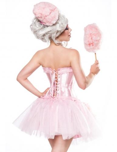 Candy Zuckerwatten-Kostüm für Damen Fasching rosa-1