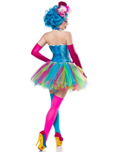 Candy Clown-Kostüm für Damen Bonbons bunt-1