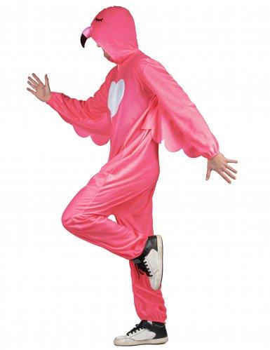 Flippiges Flamingo-Herrenkostüm pink-weiß-1