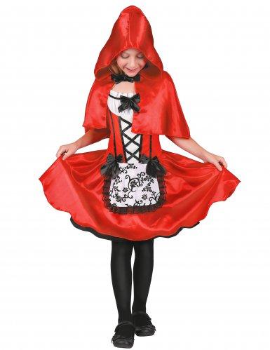 Bezauberndes Rotkäppchen-Kostüm für Kinder rot-schwarz