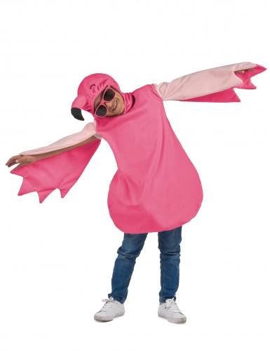 Flamingokostüm für Kinder Tunika pink