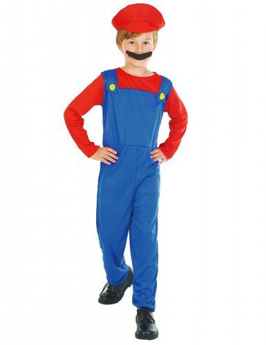 Klempner-Kinderkostüm blau-rot