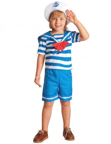 Matrosen Kostüm für Jungen Seefahrer-Uniform blau-weiss-rot