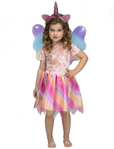 Hübsches Einhorn-Kostüm-Set für Mädchen Fasching bunt