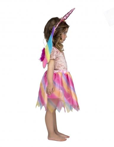 Hübsches Einhorn-Kostüm-Set für Mädchen Fasching bunt-1