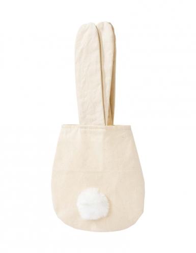 Kaninchen Tasche Geschenk-Artikel beige-weiss 34cm-1