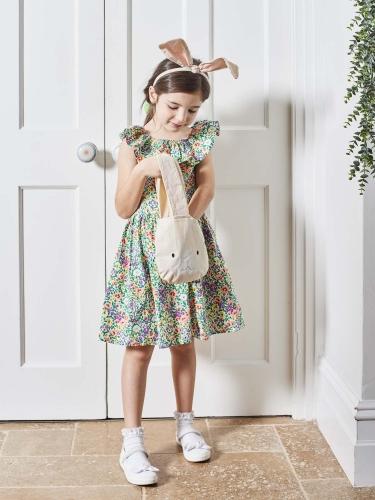 Kaninchen Tasche Geschenk-Artikel beige-weiss 34cm-3