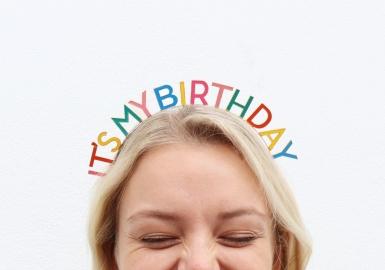 Haarreif für den Geburtstag Accessoire für Erwachsene bunt-1