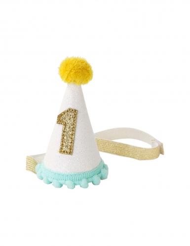 Mini Partyhut für Kleinkinder 1. Geburtstag bunt