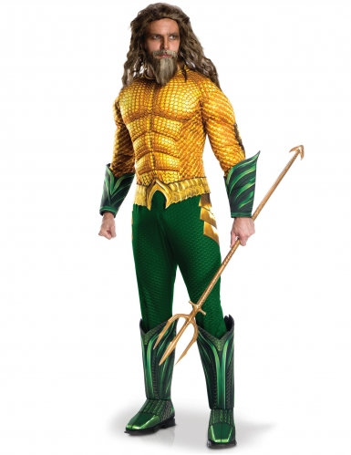 Aquaman™-Herrenkostüm DC-Verkleidung grün-gelb