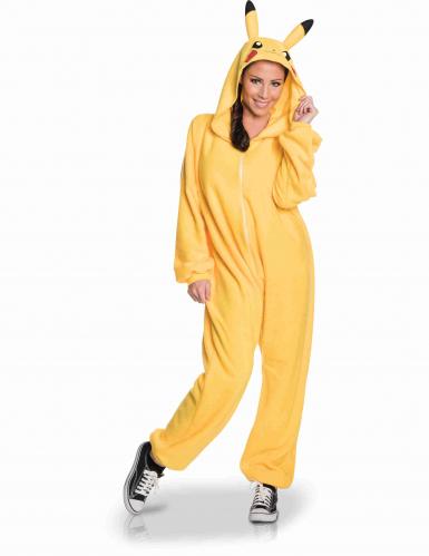 Pikachu™-Overall Pokemon-Kostüm für Erwachsene gelb-2
