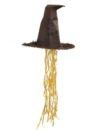 Harry Potter™-Pinata sprechender Hut Party-Zubehör braun 45cm