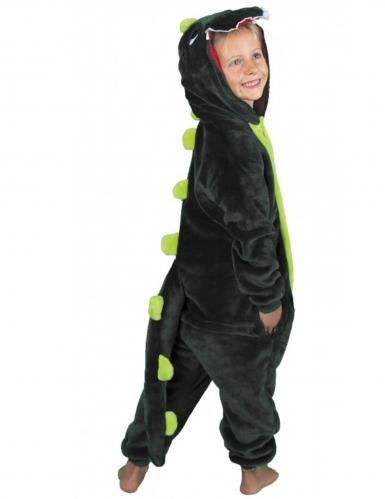 Dino-Overall Kostüm für Kinder Tier-Verkleidung grün-1