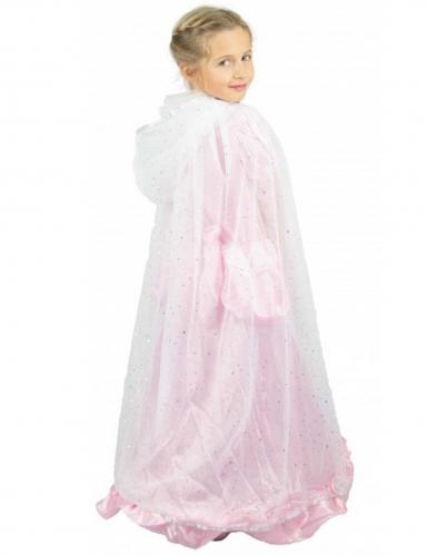 Umhang für Prinzessinnen Accessoire für Kinder weiss-silber