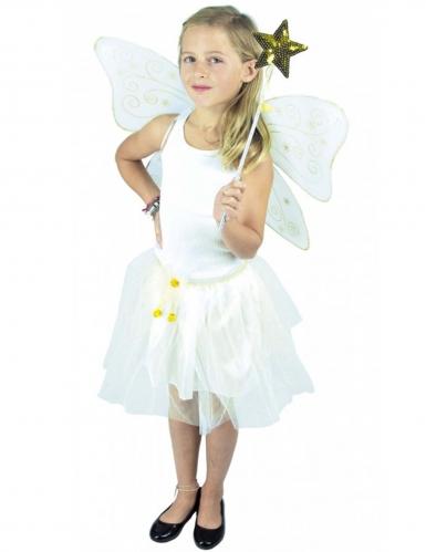 Feen-Accessoire Kostüm-Set für Mädchen 3-teilig weiss-gold