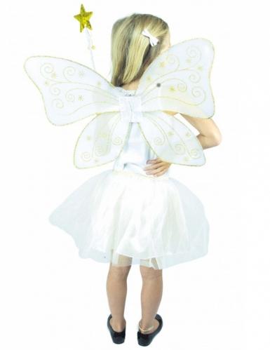 Feen-Accessoire Kostüm-Set für Mädchen 3-teilig weiss-gold-1