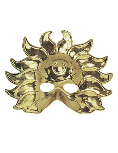 Sonnen-König Halbmaske Kostüm-Accessoire gold