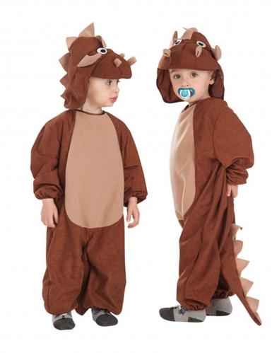Triceratops-Kostüm für Kinder Tier-Verkleidung braun